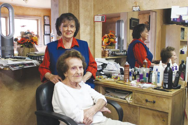 At 80 years old, beautician Pat Wylie is still going strong at Ruby's Beauty Shop.