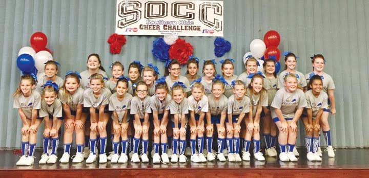 Second place in the Pee Wee Division at the Southern Ohio Cheer Challenge went to Manchester.