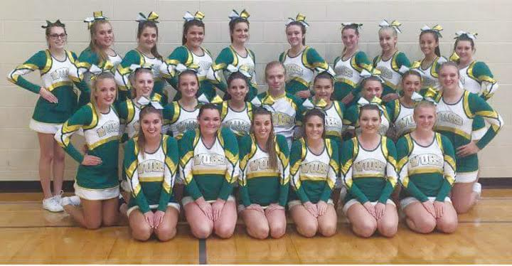The Runner-Up Reserve Champion squad at the Southern Ohio Cheer Challenge went to West Union High School.