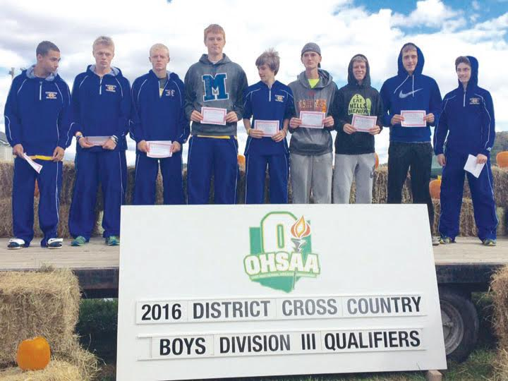 By virtue of their sixth place finish in the Division III District race, the Manchester Greyhounds boys' cross-country squad will be competing in the regional race this coming Saturday in Pickerington.