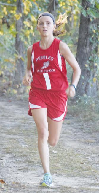 Peebles sophomore Jenny Seas is the Southeast District Division III girls cross-country champion, easily winning the girls race at Rio Grande on Saturday in a time of 18:54.31.