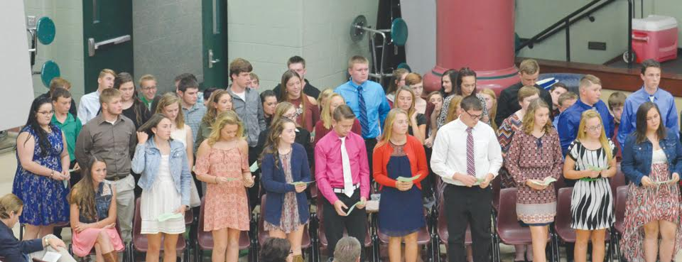 West Union High School held its annual National Beta Club and National Honor Society induction ceremonies on Tuesday, Oct. 25 at the high school.