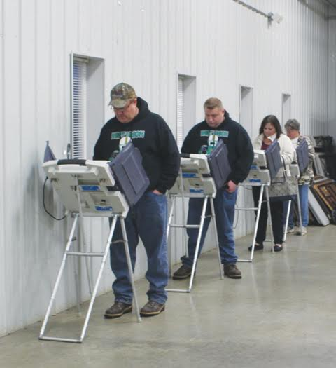 The turnout of voters was steady on Tuesday as voters made choices on both the local and national levels, including numerous local levies.