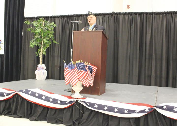 "The featured speaker at last week's Veterans Day program at GE in Peebles was World War II Medal of Honor recipient Herschel ""Woody"" Williams."