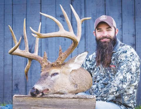 After an interesting search, Lear McCoy of Peebles was able to track down this big non-typical that he shot with his crossbow on Oct. 29.