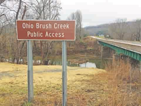 New signage provided by the Ohio Department of Transportation will guide visitors to the new access sites for canoes and kayaks on Ohio Brush Creek.