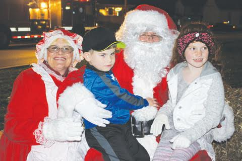 Santa and Mrs. Claus made another appearance in the county, stopping by the Peebles Hometown Christmas celebration.