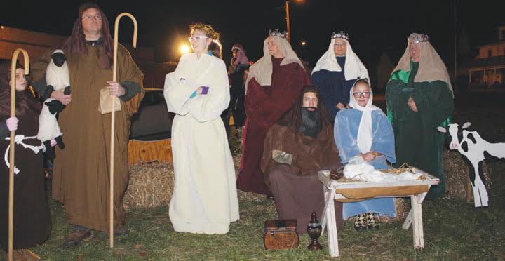 This live nativity scene was part of the Hometown Christmas celebration on Dec. 3 in Peebles.
