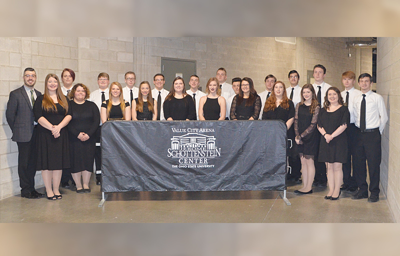Under the direction of Mr. Neil DeAtley, the West Union High School Chamber choir had the honor of performing the National Anthem before last Friday's afternoon session of the OHSAA girls state basketball tournament.