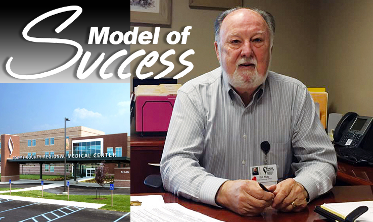 Bill May, CEO of the Adams County Regional Medical Center, has helped to put the hospital in a financial situation that is not common in rural hospitals.