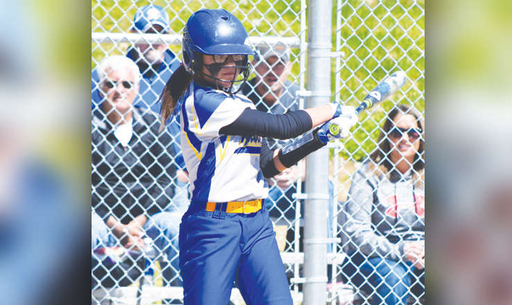 Going into the final game of the season, center fielder Aaliyah Smith led the Manchester Lady Hounds in hitting, with 18 hits in 40 official at-bats for a .450 average.