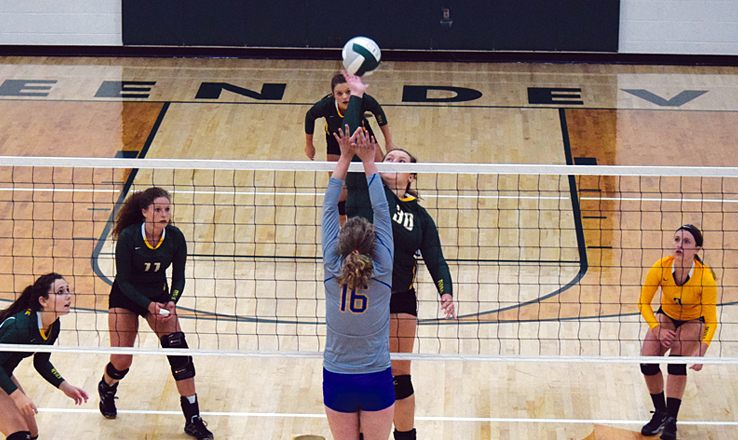 The final match up in last Friday night's SHAC Volleyball Preview saw the host team, the North Adams Lady Devils, battling the Lady Hounds of Manchester.