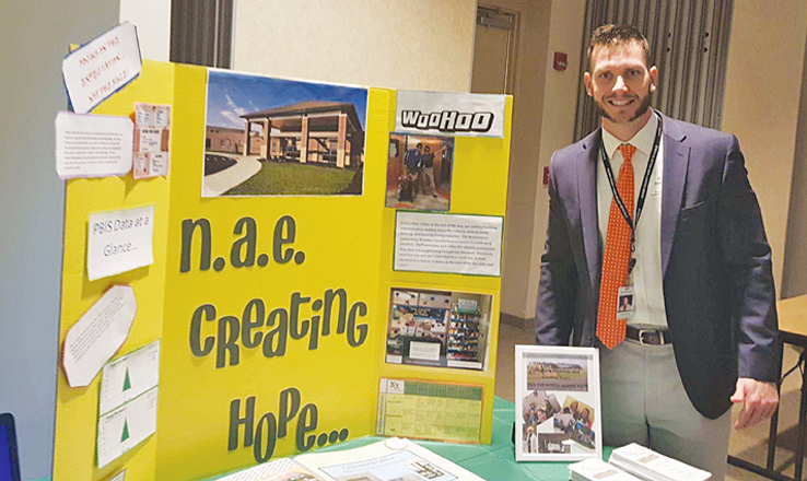 North Adams Elementary Assistant Principal Kyle Brewer presented his school's success at the recent PBIS Showcase held in Mansfield, Ohio on Nov. 30.