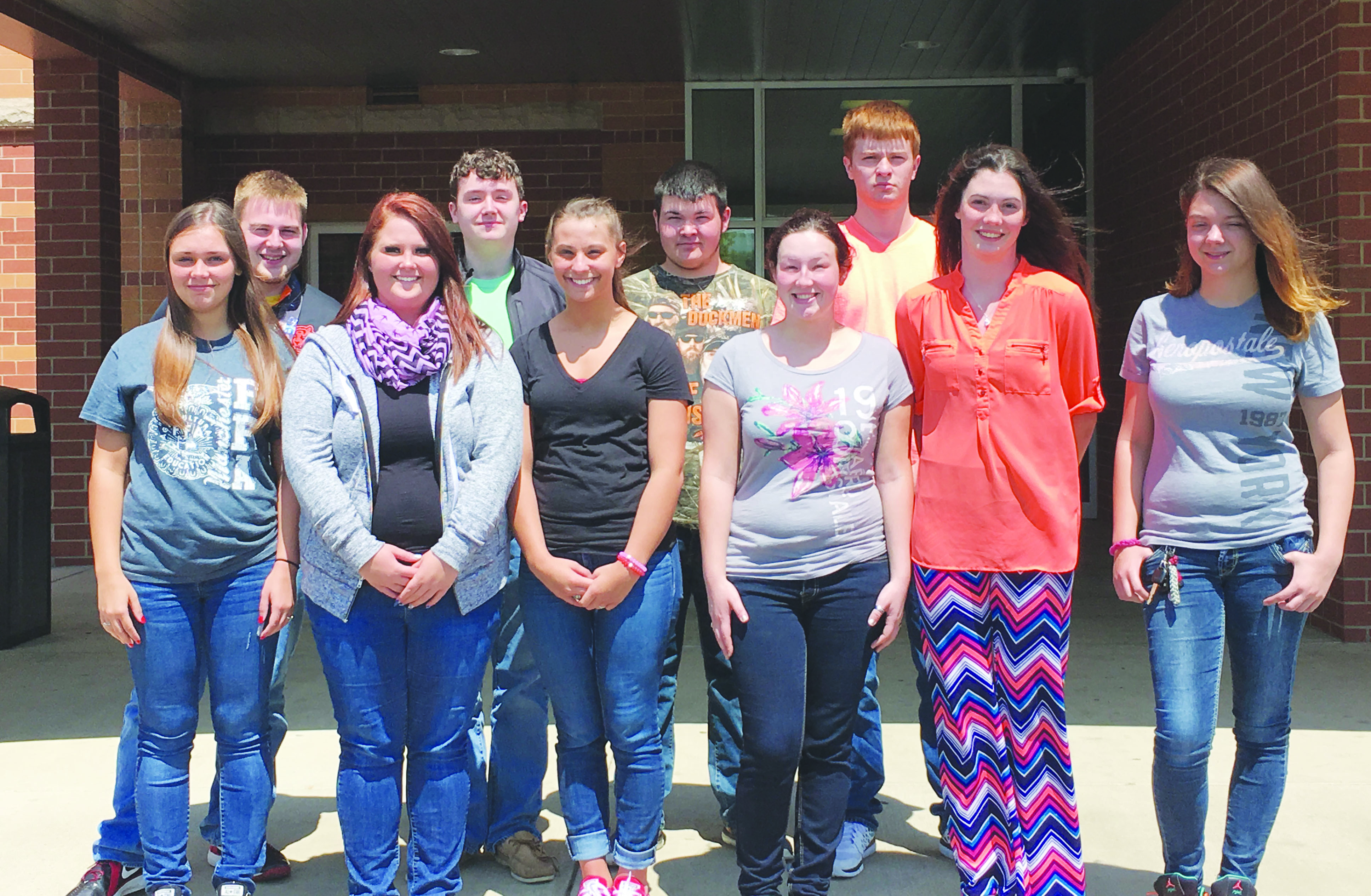 The MHS students who certified were: Back row, from left, Gabe Horsley, Jamison Wilkins, Austin Grooms, and Ryan Dryden; Front row, from left, Montana Hamilton, Natasha Curtis, Kayleigh Robinson, Cassidy Boone, Raeanna Stamm, and Veronica Montgomery.