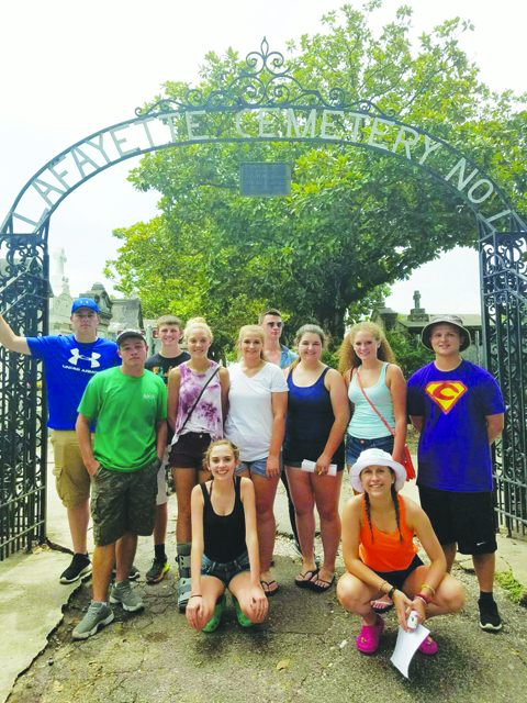 One of the highlights of the trip was the scavenger hunt through Lafayette Cemetery.