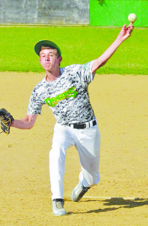 """The southpaw offerings of pitcher Zane Kingsolver have helped West Union 1 gain a berth in the semi-finals of the SHBL """"B"""" tournament."""