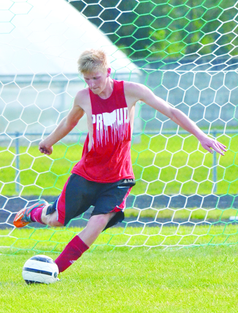 Junior Tanner Schmitz is one of the returning starters for the 2016 Peebles Indians boys soccer squad.